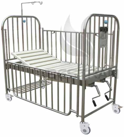 2 crank manual children bed
