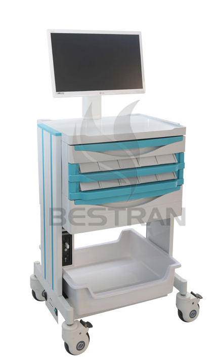 Doctor workstation computer trolley