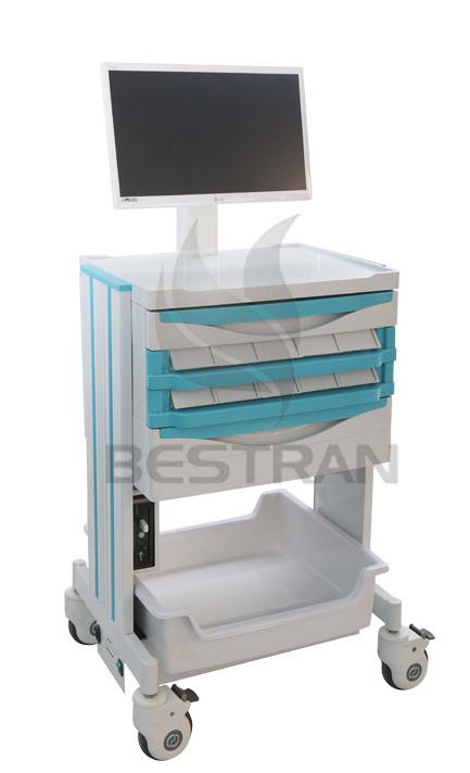 Doctor workstation computer trolley