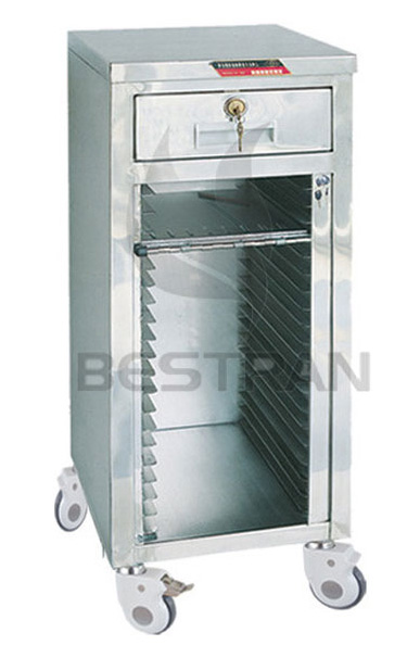 stainless steel patient record trolley