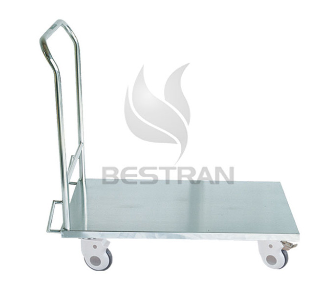 Trolley with flat plate