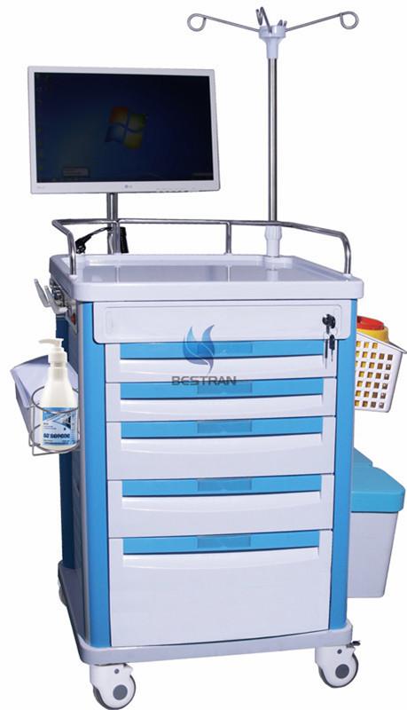 Assembled Wireless Nursing Computer Trolley