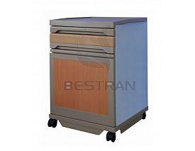 木纹色ABS床头柜