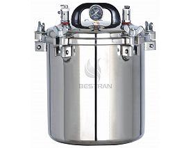 Portable pressure steam sterilizer